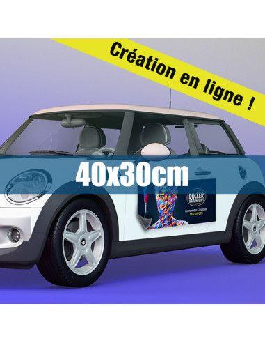 Magnétique véhicule 40x30cm