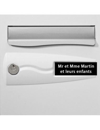 Plaque boite aux lettres PVC gravée -...